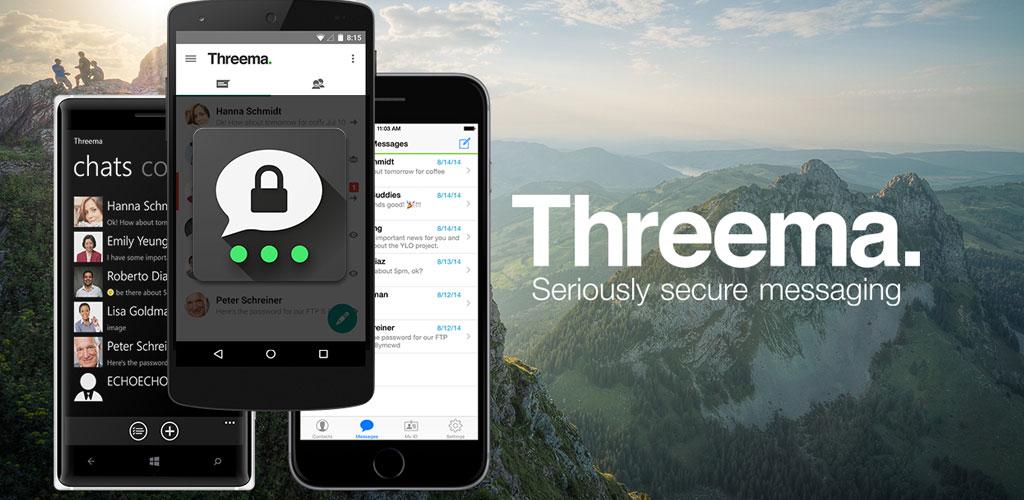 Threema app تطبيق مراسلة ثريما